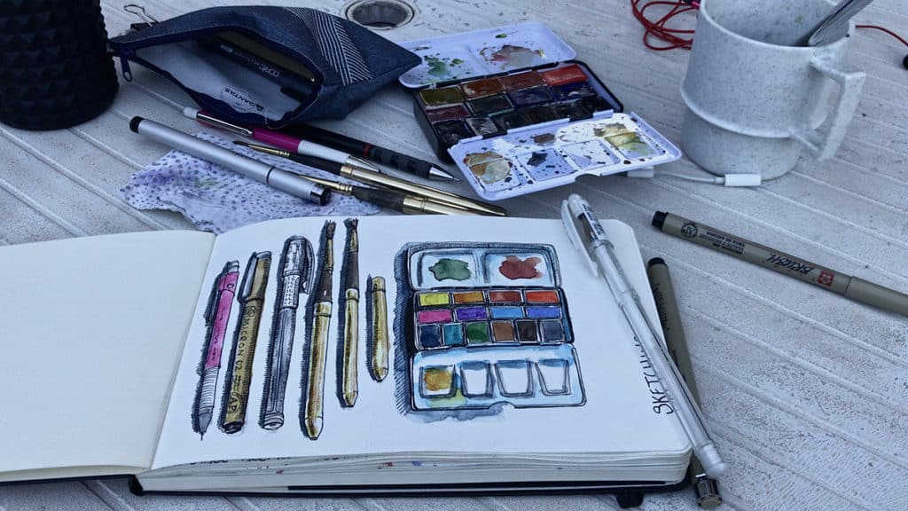 Sketching your art supplies