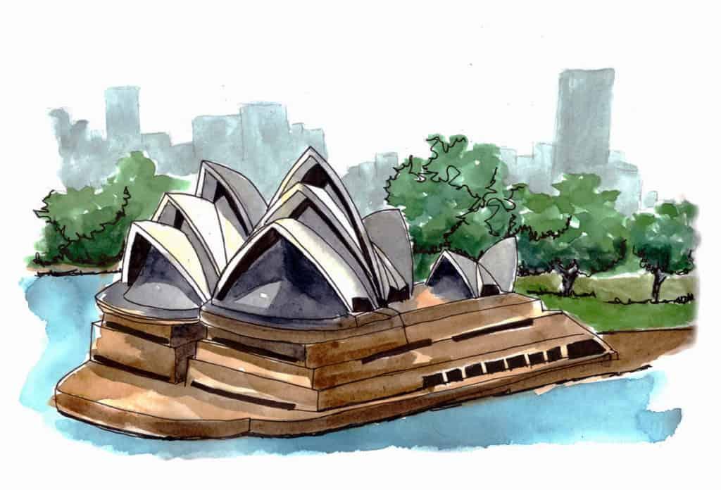 Sydney Opera House, Urban sketching in Australia