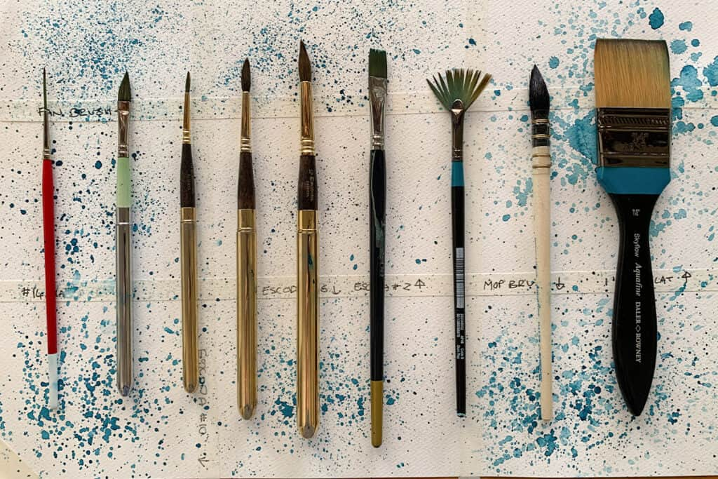 How to Create Watercolour Splatters and Splashes