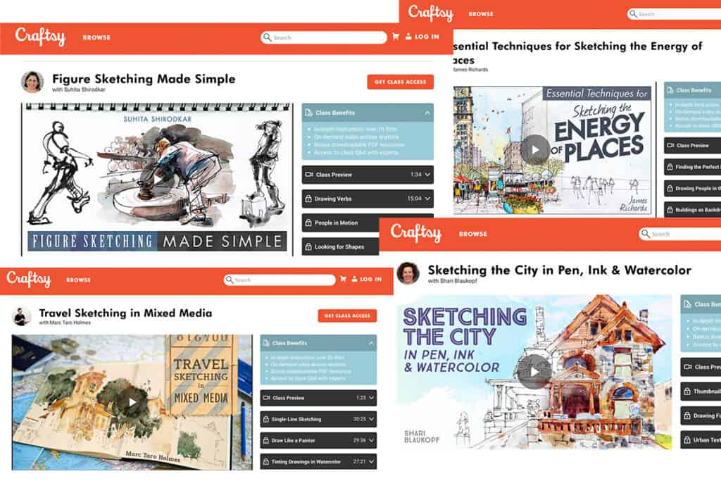 5 Essential Craftsy Courses for Urban Sketching